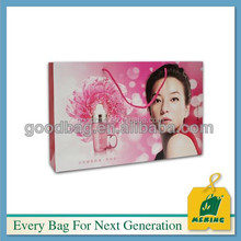 factory supply 200gsm coated art pink gift paper bag
