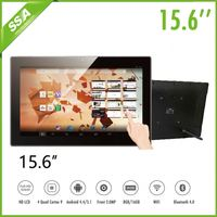 15.6 Inch wall mounted open frame digital advertising signage Bus Portable LCD Digital Signage Player
