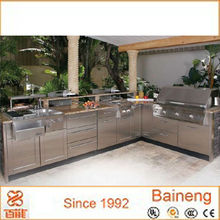 Guangzhou factory supply stainless steel outdoor kitchen cabinets