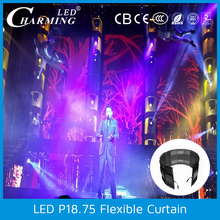 p18 outdoor flexible led light stage curtain display