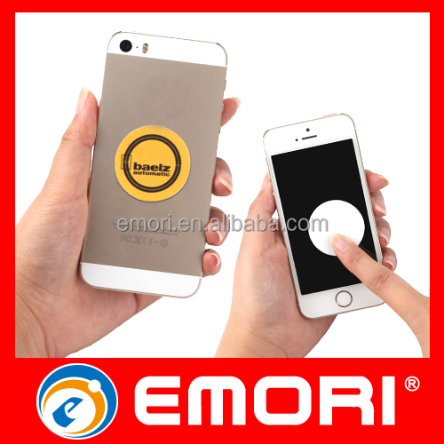 Eco-friendly adhesive microfiber mobile phone cleaner sticker for cleaning