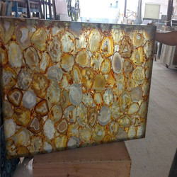 Good quality yellow Agate slab factory directly supplying agate onyx slab best price semiprecious yellow stone