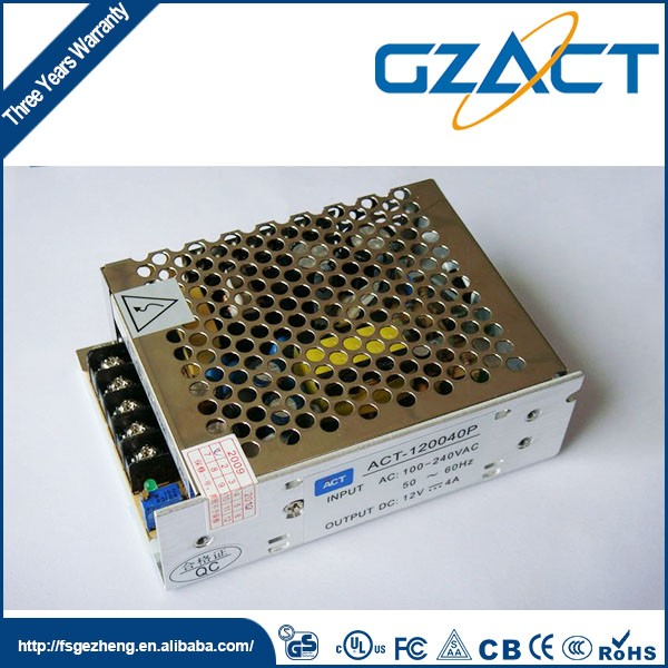 Golden Supplier low cost power supply 12v 4a smps