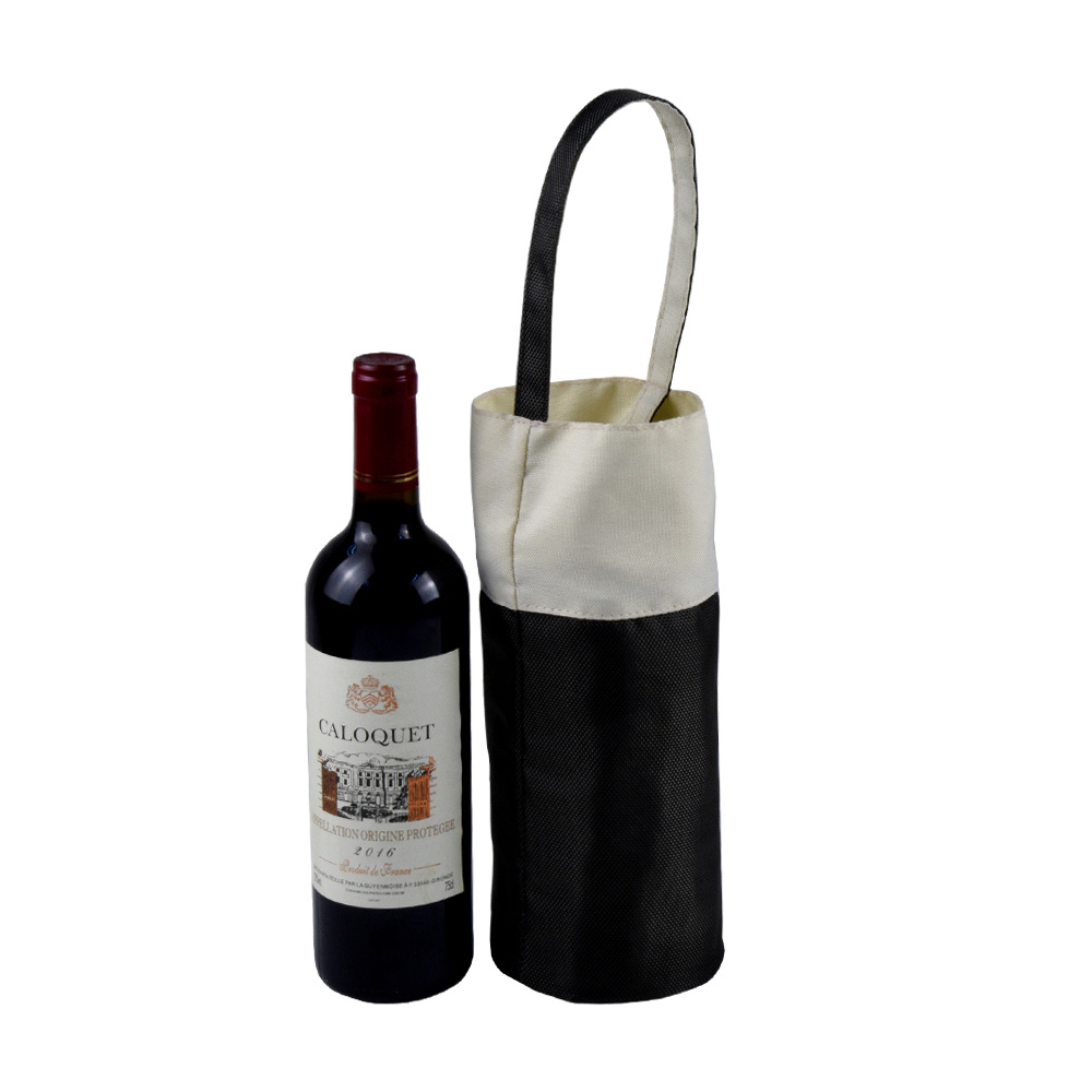 Creative high-end PU leather single bottle wine pouch