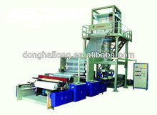 Two layer co-extrusion ldpe/hdpe film blowing machine