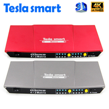 Tesla smart HDMI 4 x 2 Matrix Switch Splitter with IR and Optical Audio Output