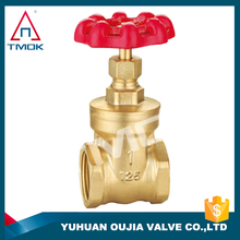 PN 16 full port and brass body stainless steel wheel mini brass gate valve with CE /ISO approved made in China