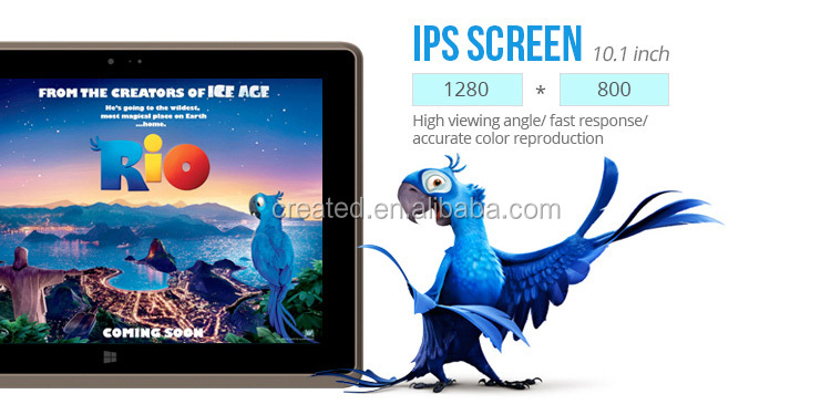 2G RAM 32G ROM Quad Core 1.8GHZ 10.1 inch 1280 x 800 pixel win10 tablet with ethernet port