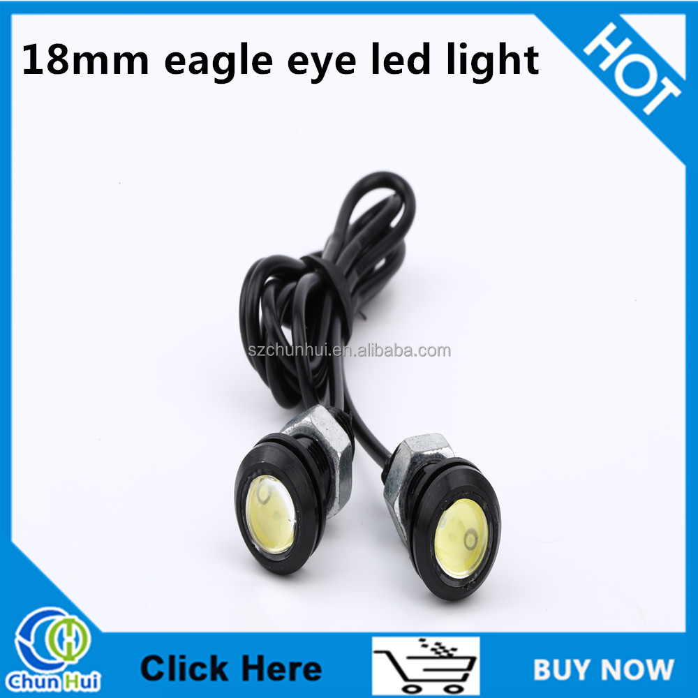 Car Led Light 12v White 18mm Eagle Eye