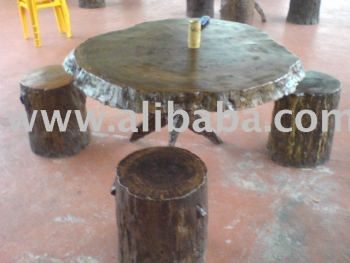 Cengal Table & Chair (Set)