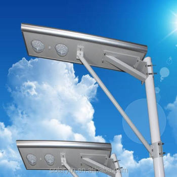 50W IP65 Waterproof Motion Sensor PV LED Solar integrated street light for Street lighting