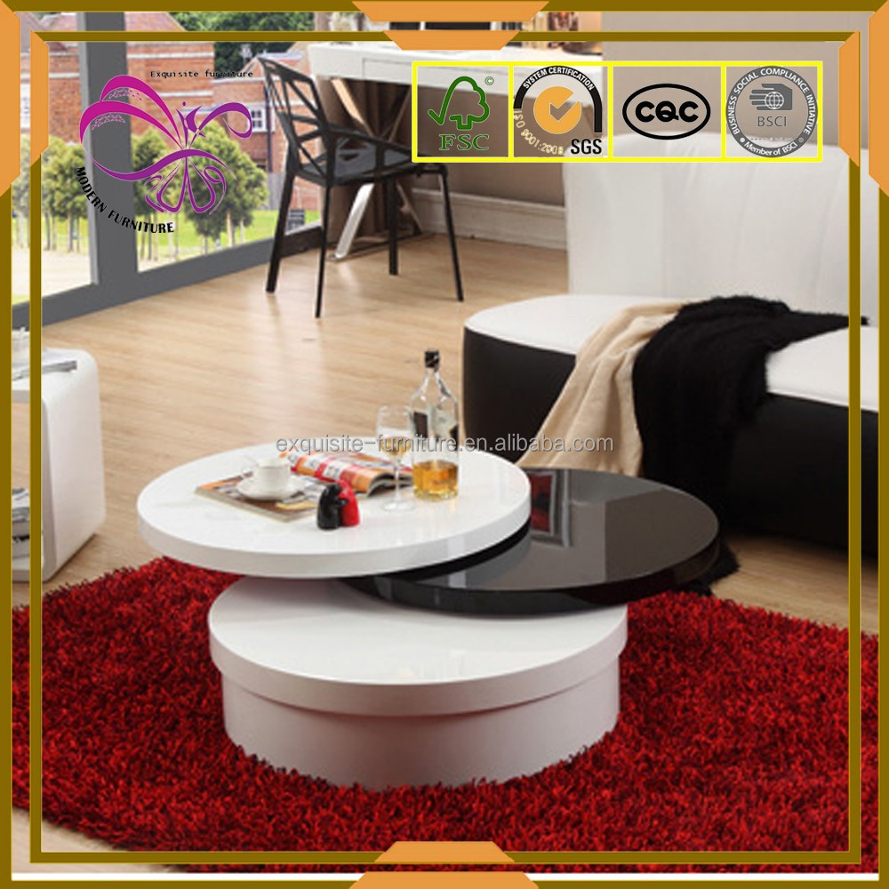 Round MDF rotating center table