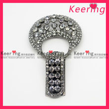 2013 Fancy Rhinestone Key Ring Crystal Button Metal Fastener for Garment WBK-1102