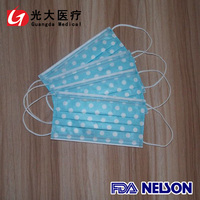 best selling export to Japan disposable 3ply anti pollution face mask with different gram weight