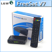 New model full HD digital satellite receiver freesat V7 combo dvb-S2+T2 support powervu biss key CAS cccam card sharing