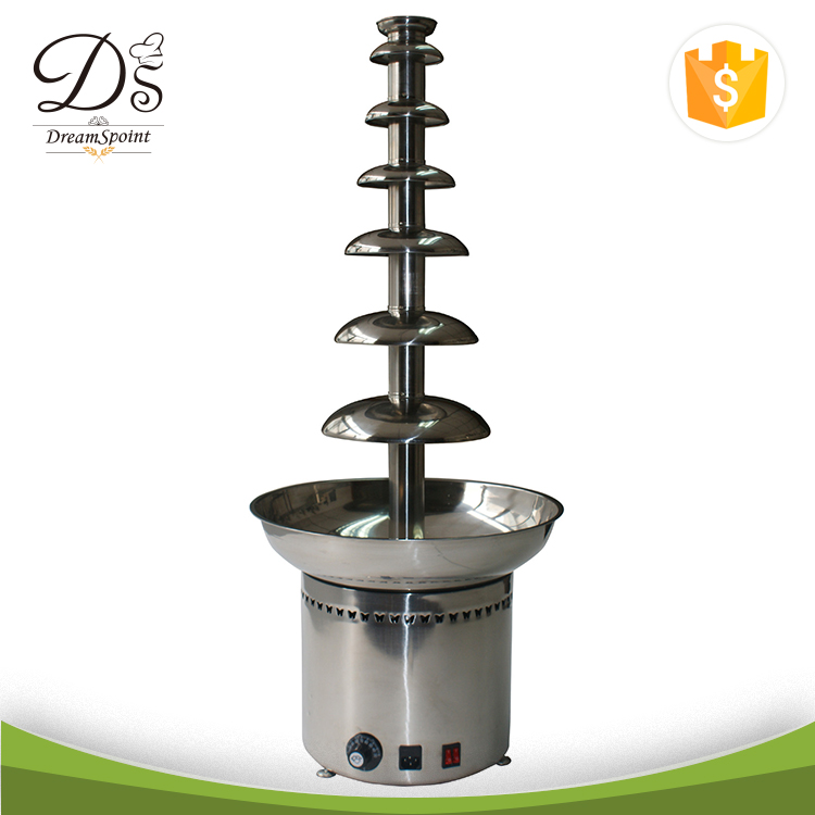 Big capacity stainless steel 7 layers Chocolate Fountain Machine