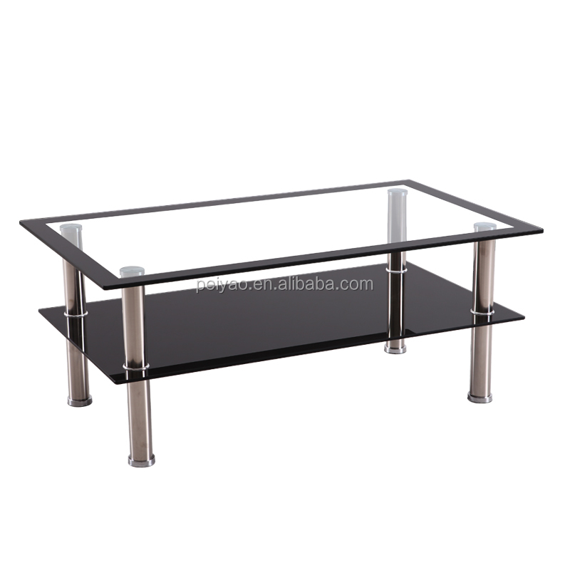 Wholesale cheap luxury glass coffee table