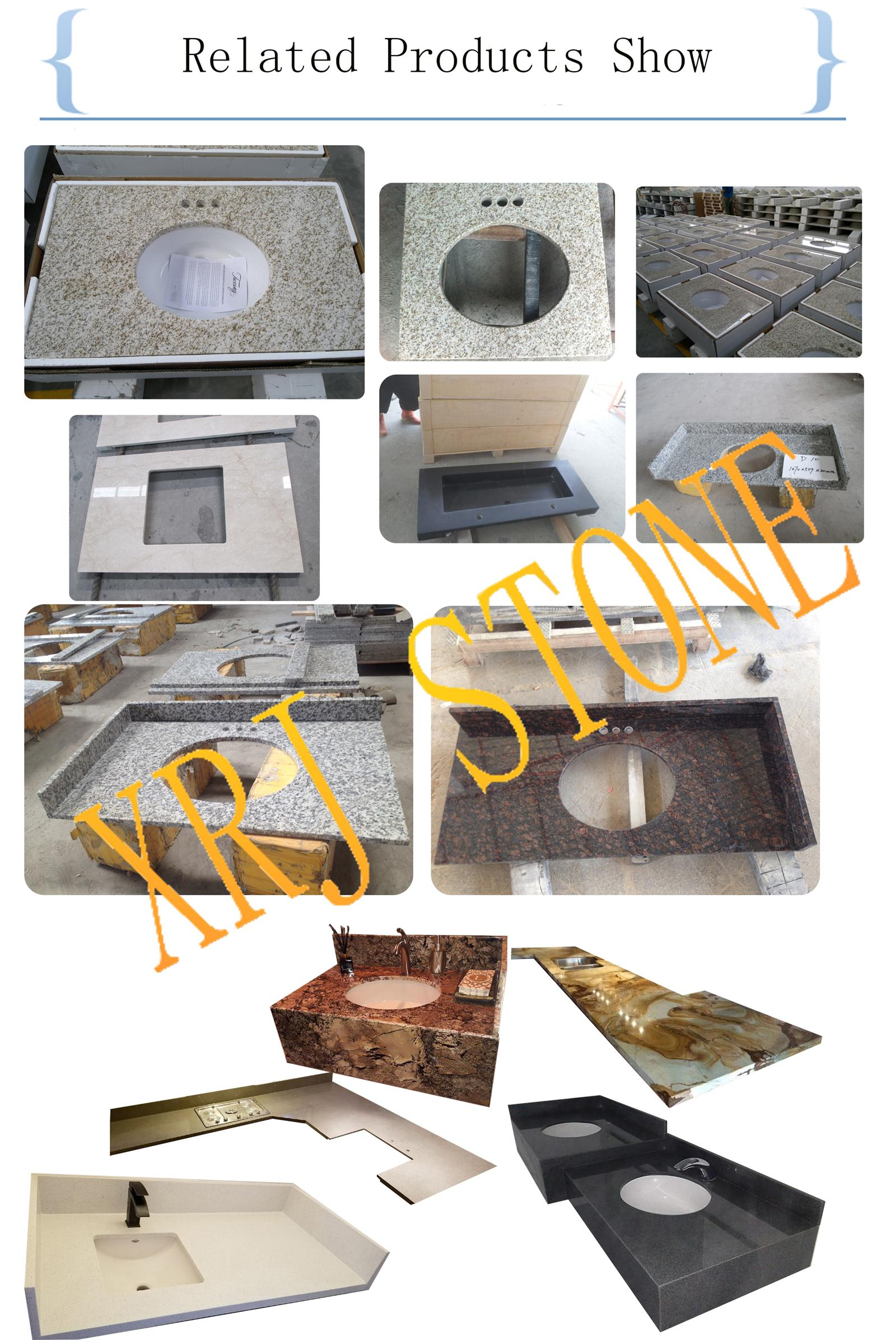 Custom Prefab Granite Bathroom Vanity Top for Hotel Project,Bathroom Vanity Top