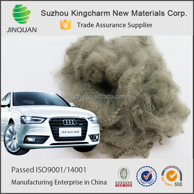 100% PET chips 4D polyester fiber for good quality automotive interior