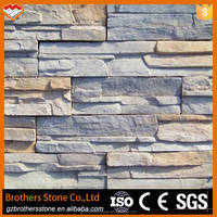 2017 new design artificial stone faux stone panel waterproof faux tile wall panel 3d wall panel