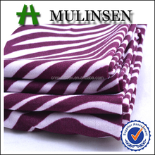 Mulinsen Textile Hot Sale Printed Polyester Lycra 4 Way Stretch Jersey Purple And White Striped Fabric
