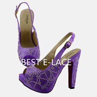 2016 high quanlity shoe and bag matching sets ,new style women shoes and bag set
