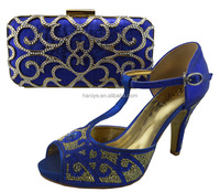 1307-L12 2015 new design matching italian shoe and bag set/ladies shoes and matching bags