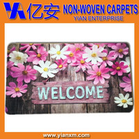 Italian flower printed welcome entrance door mat
