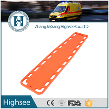 red plastic lite backboards spine board for patient transfer