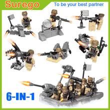 Kitoz US Navy Marine Special OP Force Duty Call Army Warfare Hull Inflatable Boat Building Block Toy Military Collection For Boy
