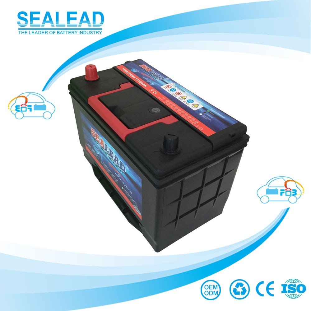 Factory direct SEALEAD MF 12v 90ah car automobile battery