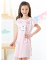 Short sleeve 100% cotton pajamas for children grils OEM supply