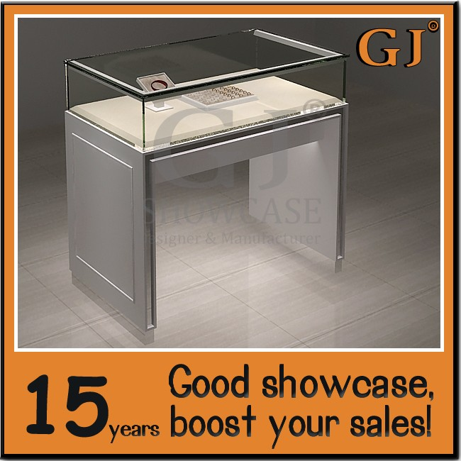 Simple White Style Glass Display Counter for Jewelry Shop