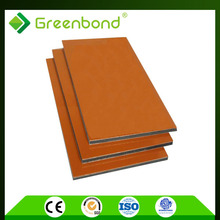 Greenbond golden/silver mirror finished glass wool insulation wall panel for bathroom pvdf/pe acp acm with latest design
