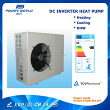 Most energy saving renewable energy air source DC Heat Pump water chiller water heater for indoor climate