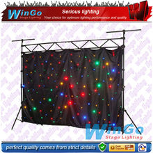 RGBW or White LED Star Cloth / led Stage back cloth/led light stage curtain