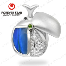 2015 New Design Hot Sale Peruvian Blue Opal White Gold 14 Karat Gold Jewelry Wholesale