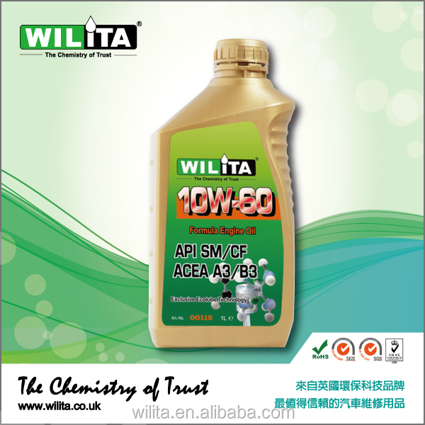 WILITA Special Racing Formulation 10W60 Synthetic Engine Oil