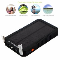 Allpowers 12000mAh Solar Power Portable Easy Carrying Outdoor Solar Phone External Battery Charger.