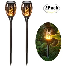 Garden Solar Lamp Decorative Torch 96 LED Dancing Flame Lighting Outdoor Waterproof Yard Landscape