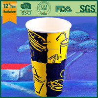 16oz customized double pe coated soda cold drink paper cup