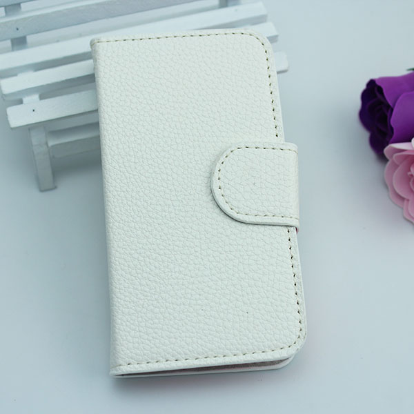 Universal holster litchi grain leather back case cover for samsung galaxy s duos s7562