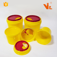 V-NC01 Hospital Round Plastic Medical Disposal Needle Sharp Container Safety Box
