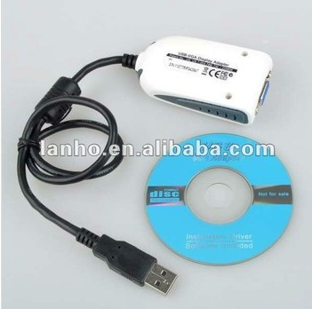 2014 NEW USB 2.0 to VGA Extra Multiple Display Monitor Adapter