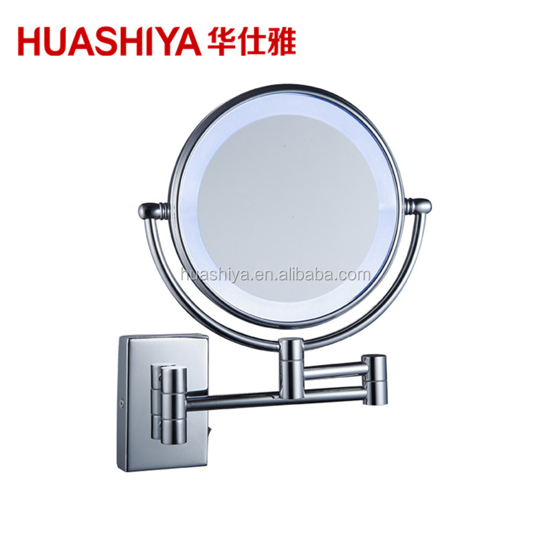 HSY1003 Hotel Bathroom Cosmetic Mirror with LED Light with Square Base