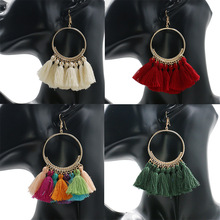 YWMT 2018 Great Circle Overstate Alloy Valentine's Day Romance Tassel Earrings For Women