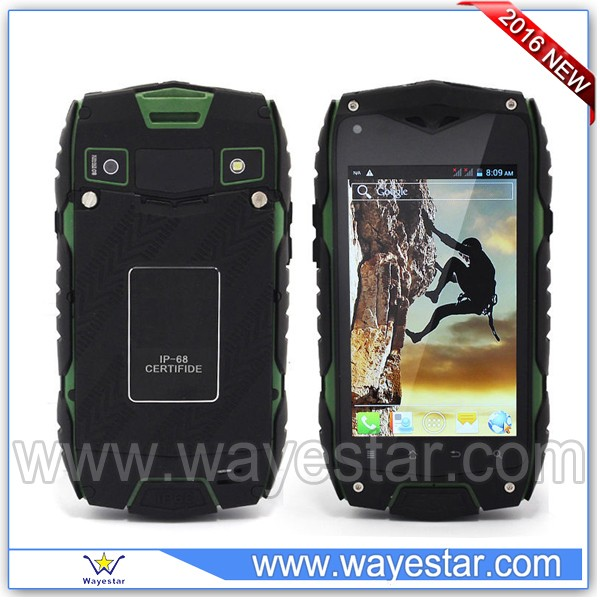 4 inch dual <strong>sim</strong> Waterproof IP67 4GB ROM Walkie Talkie 3G cell phone