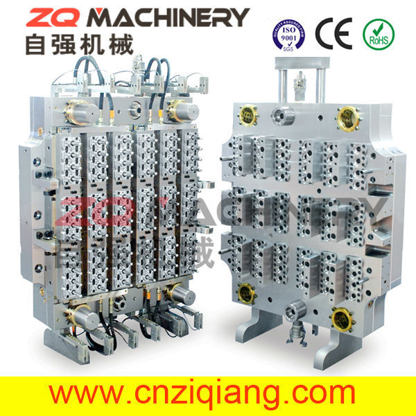 72 Cavities PET Preform Mold with Hot Runner System electro galvanizing pet preform wire container