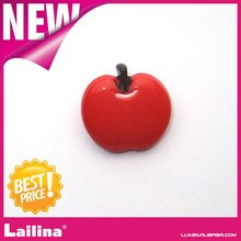 red apple shape plastic button