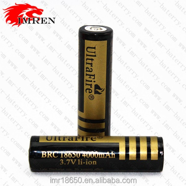 Ultrafire 18650 3.7V battery UltraFire BRC 18650 4000mAh 3.7V Rechargeable Li-ion Battery Gold